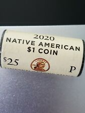 2020~P SACAGAWEA~ NATIVE AMERICAN DOLLAR ~MINT~ ROLL UNCIRCULATED ~HEADS~ TAILS~