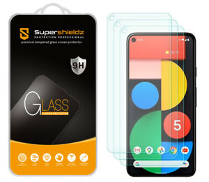 [3-Pack] Supershieldz Tempered Glass Screen Protector for Google Pixel 5