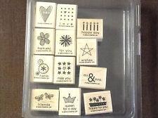 """Stampin' Up! Tagger's Dozen """"2006"""" stamp set"""