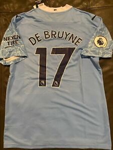 PUMA MANCHESTER CITY KEVIN De BRUYNE SOCCER JERSEY Blue sz X-LARGE  NEW w TAGS