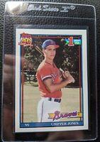 1991 TOPPS #333 CHIPPER JONES ROOKIE CARD RC ATLANTA BRAVES HOF GEM MINT
