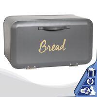 Grey Bread Bin Front Open Kitchen Loaf Storage Box Cheap Bread Bin