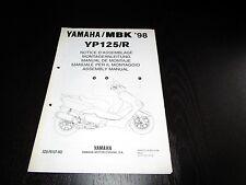 Yamaha YP 125 R YP125 YP125R 1989 Set-up Manual Montageanleitung Manuel