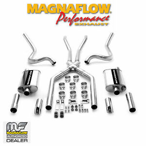 MAGNAFLOW Cat Back Dual Stainless Exhaust System 1964-1966 Ford Mustang 4.7L