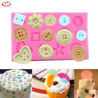 Button Flower Silicone Fondant Mold Cake Decorating Sugarcraft Baking Mould Tool