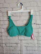 New listing Xhilaration Women's Green Textured Bralette Bikini Swim Top Size L 8-10 New wTag