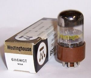 NEW WESTINGHOUSE 6H6WGT RADIO DUAL DETECTOR DIODE TUBE / VALVE - 6H6GT