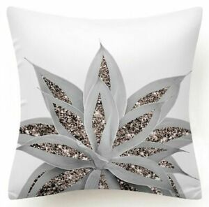 """18x18"""" PILLOW COVER Floral Yellow Red White Sunflower Plant 2-Sided Cushion Case"""