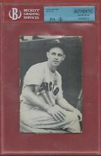 1952  NELLIE  FOX  SIGNED  JSA/BVG  SLABBED  PHOTO  GPC