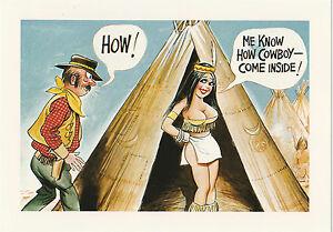 "9""x6.5"" ME KNOW HOW COWBOY Arnold Taylor Postcard Ltd Print Bamforth Comic"