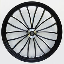 "MANHATTAN FRONT BLACK WHEEL 21"" HARLEY SPORTSTER DYNA SUPER GLIDE LOW RIDER"