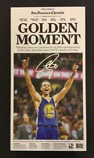 STEPHEN CURRY SIGNED CHRONICLE CANVAS STEINER CERT AUTOGRAPHED AUTO WARRIORS