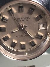 VINTAGE LOUIS ROSSEL NEUCHATEL AUTOMATIC LADIES WRISTWATCH ETA UNITAS 2651