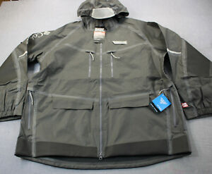 Columbia Gray PFG Force XII ODX OutDry Extreme WaterProof Jacket NWT 2XL $350