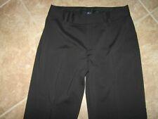 Gap Stretch Black Slacks Size 10 Pants 33W x 33L Cuffed