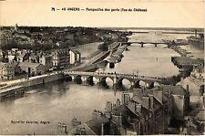 CPA Angers - Perspective des ponts (Vue du Chateau) (254019)