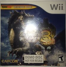 Monster Hunter Tri 3 - Nintendo Wii - Demo Disc - Brand New - Sealed -
