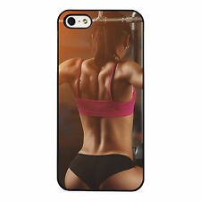 Gym Bunny Strong Woman plastic phone case fits iPhone