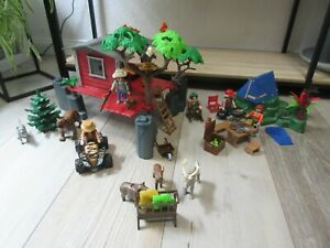 °Playmobil° Wild Life Ranger tolles Baumhaus 5899 komplett + Extras Zelt Tiere