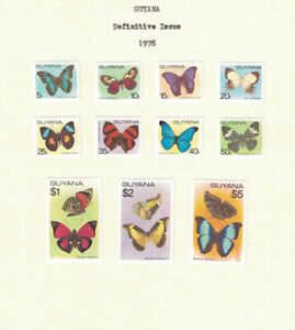 Br CW: Guyana 1978: #279-289 Butterflies, Insects VLH:Lot#2/14