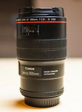 Canon EF 100mm F/2.8L Macro IS USM Lens Made In Japan *Used*