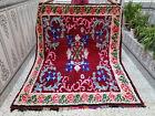 Moroccan Handmade Vintage Rug Azilal Berber Tribal Carpet Beni ourain Rug