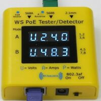 Gigabit inline PoE tester and detector (WS POE Tester+)