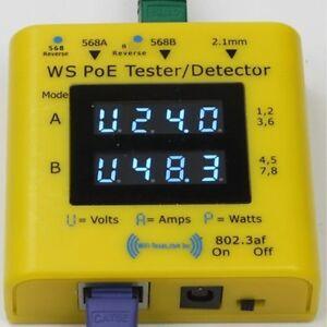 Gigabit inline PoE tester and detector (WS POE Tester+)