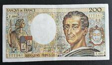FRANCE - FRANCIA - FRENCH NOTE - BILLET DE 200 FRANCS MONTESQUIEU 1991 SUP.