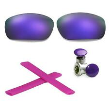 Walleva Polarized Purple Lenses And Rubber Kit And Bolts For Oakley Jawbone