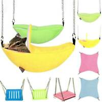 For Pets Birds Hamster Rat Hanging Swing Stand Hammock Cage Sleeping Nest Bed