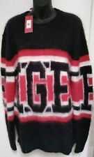 $250 NEW Hilfiger Collection Tommy Mohair Sweater WOMENS Size XL Black Red White