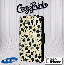 Mickey Mouse Fun Cool fits iPhone / Samsung Leather Flip Case Cover O14