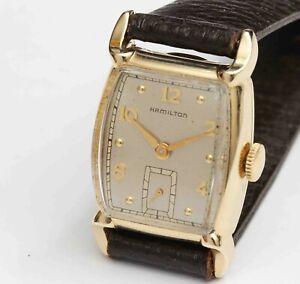 """c.1952 vintage HAMILTON """"GROVER"""" Mens Wristwatch - EXCELLENT"""