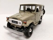 MOTOR MAX 1:24 DISPLAY TOYOTA FJ40 Diecast Car Model 74323D BEIGE