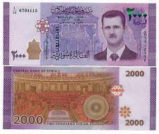 50 to 2000 Pounds p112-p117 UNC 2009-2015 Syria 6 Note Set