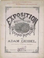 Exposition Medal Grand March, Centennial Exposition, 1876, antique sheet music
