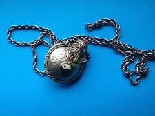 Collier Flacon Ancien YING-YANG / French Silver Necklace