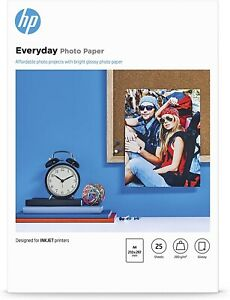 HP Everyday Photo Paper (Glossy) 200gsm A4 (1 x Pack of 100 Sheets).