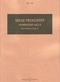 PROKOFIEV SYMPHONY No 4 OP47 1st VERSION MIN SCORE