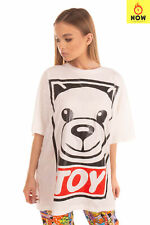 RRP €345 MOSCHINO COUTURE Oversized T-Shirt Top Size S Coated Toy Made in Italy