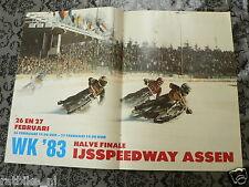 A188-IJSSPEEDWAY ASSEN WK 1983 HALVE FINALE ICE SPEEDWAY MOTO POSTER 26/27-2