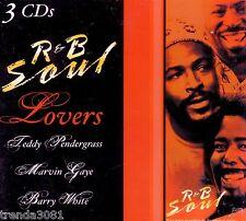 R&B Soul Lovers 3CD Digipak TEDDY PENDERGRASS MARVIN GAYE BARRY WHITE 70s Great