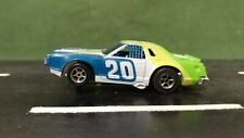 Blue & Green AFX Mercury Stock 1:64 Scale Slot Car w/Magnatraction Chassis