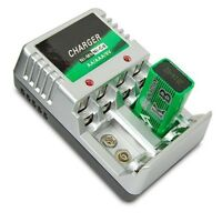 Rechargeable Battery Charger AA AAA 9V Ni-MH Ni-Cd Batteries Charging Charger.