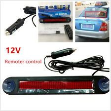 12V Car LED Programmable Message Sign Scrolling Display Board Remote Control Kit