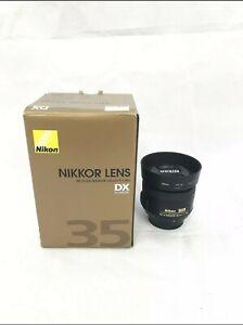 Nikon Nikkor AF-S DX 35mm F/1.8 G Lens for Nikon - Black