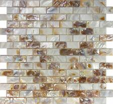 Sample Mother Of Pearl Sea Shell Subway Brick Mosaic Tile Kitchen Backsplash Spa