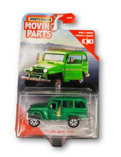 Matchbox Moving Parts Vehicle 1962 Jeep Willys Wagon Green