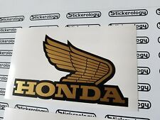 HONDA WINGS GOLD BLACK STICKERS PAIR LEFT/RIGHT CLASSIC